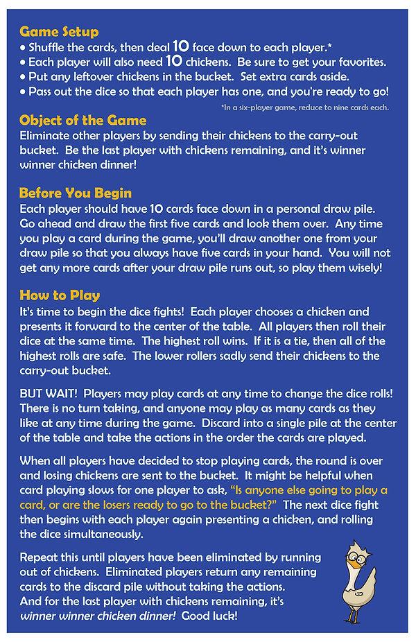 Chicken Dice Fight Instructions - June 2