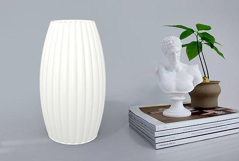 """Lampe à poser """"Ogive"""" blanche écologique et design par Quentin MARQUET"""