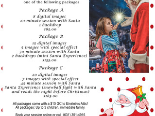 2019 Visit with Santa at Einsteins dates are here!