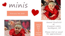 Valentines Day Mini's at Einstein's Attic!