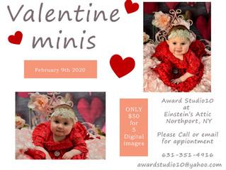 Valentines Day Mini's at Einstein's Attic!