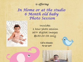 6 Month Old Baby Photo Session Special
