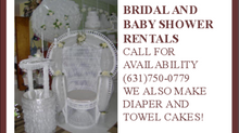 Bridal and Baby Shower Rentals Available