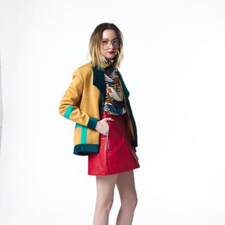 """""""Gonzo"""" A/W Skirt, Jacket, Top Ensemble"""