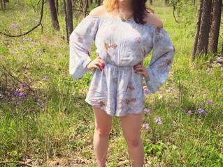 Lilac & LavenderPlaysuit