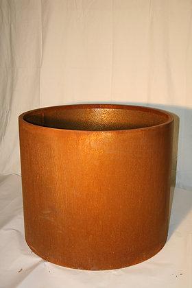 Fioriera in corten cilindrica
