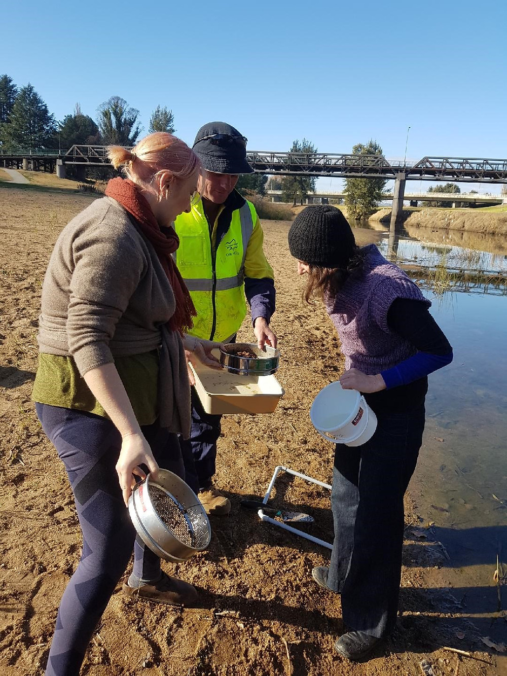 Dr Scott Wilson helping out with microplastic identification
