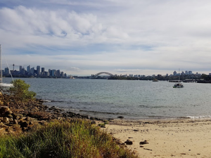 View of Sydney Harbour from Athol Beach