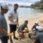 Athol_beach_microplastic_mapping_cleanup