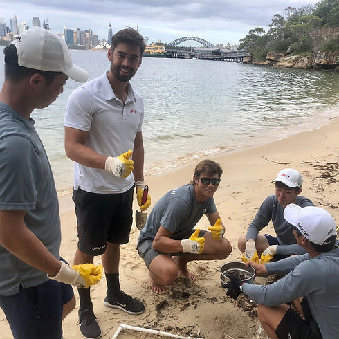 Athol_beach_microplastic_mapping_cleanup_sailGP