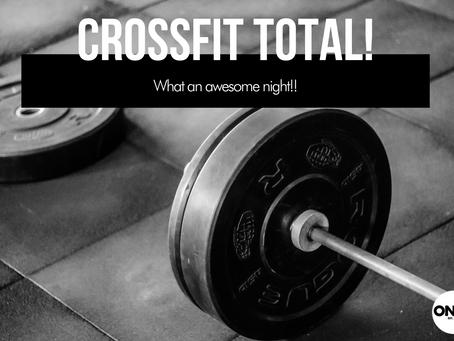 Dear Onyx Diary; CrossFit Total!