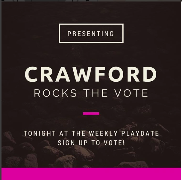 Crawford Rocks the Vote