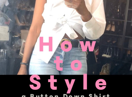 Styling a Button Down Shirt