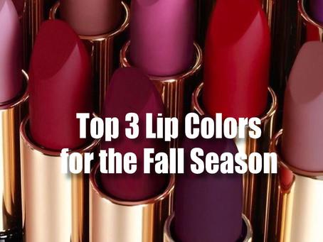Top 3 Lip Colors for Fall Season