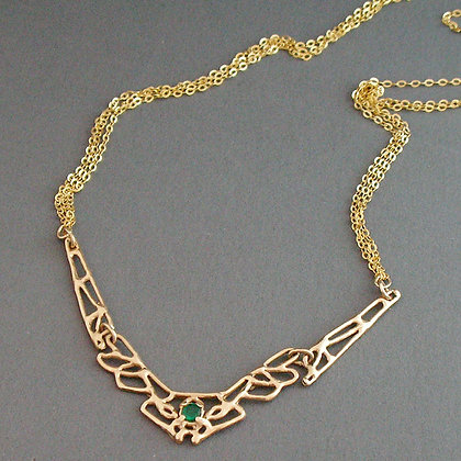 Emerald Wedding Necklace
