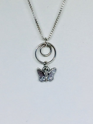 Butterfly full circle pendant