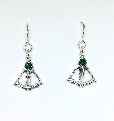 Emerald Fanwater Earrings
