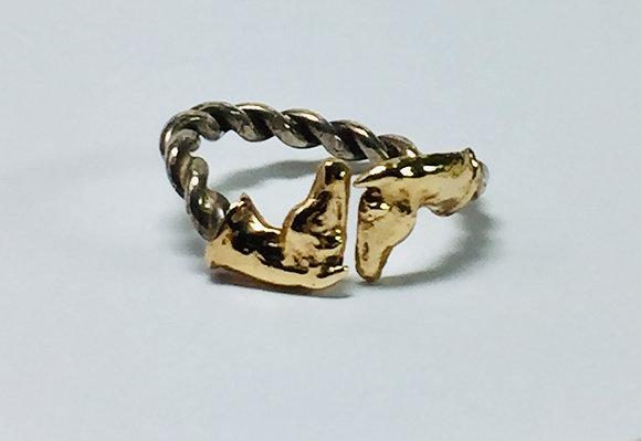 Horse Hug Ring