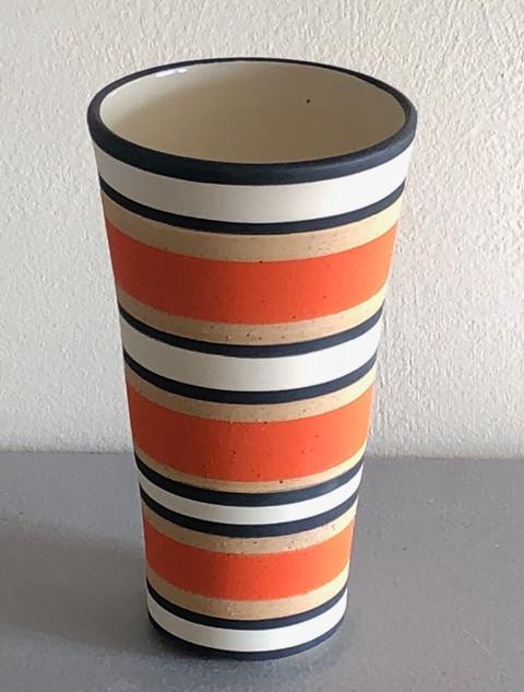 Madeleine Watkins - Orange&Black vase.jp