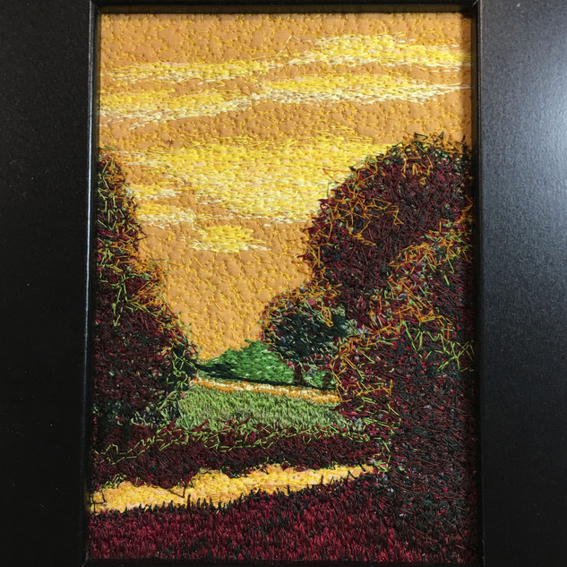 Golden-Moments Thread Painting 5 x 7 CRE