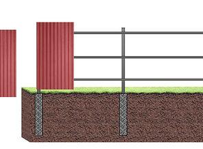 забор из профлиста на ямочном фундаменте