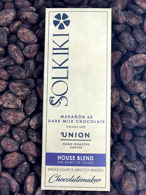 Bar of Solkiki Caramel Coffee fine craft chocolate