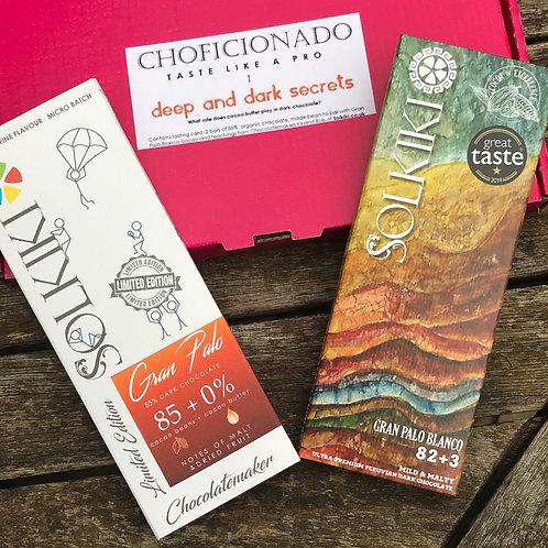 Choficionado 1: 85% Peru, Gran Palo Blanco  - Dark (TasteLikeAPro)
