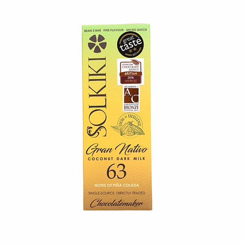 63% Peru, Gran Nativo Blanco - Coconut Dark Milk