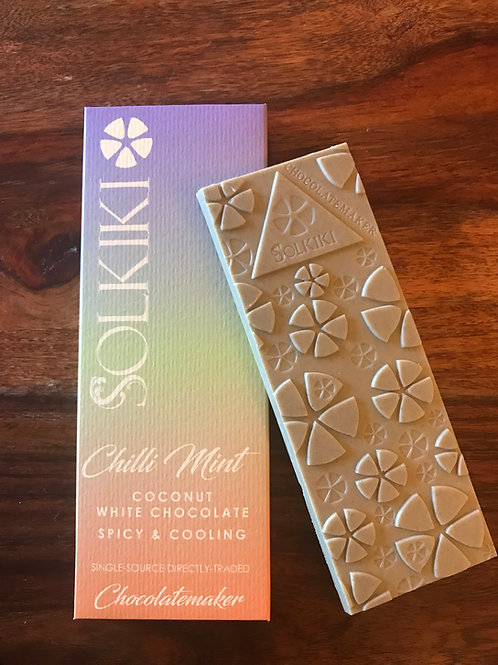 Solkiki Chili Mint Craft Vegan White Chocolate UK