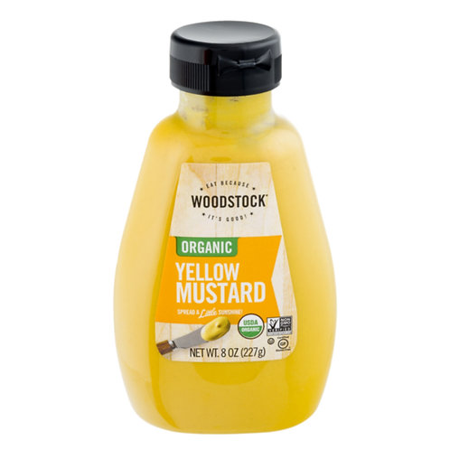 Woodstock Organic Yellow mustard 8oz