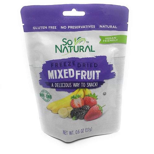 SO NATURAL Freeze dried mixed fruit 0.6 oz non gmo