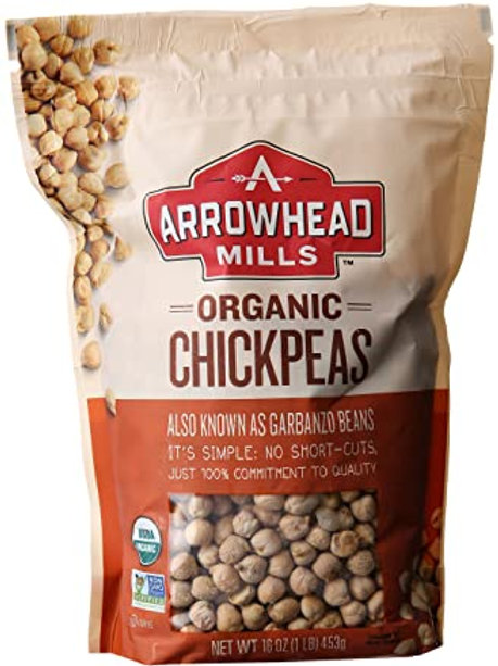 Arrowhead Mills Organic Chickpeas, 16 oz