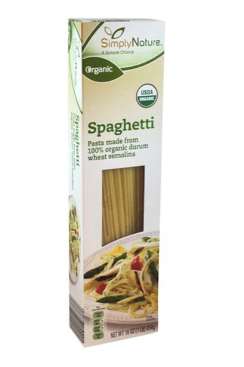 Organic whole wheat Spaghetti 16oz