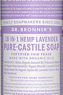 Dr. Bronner's Pure Castile Liquid Soap Lavender -- 8 fl oz