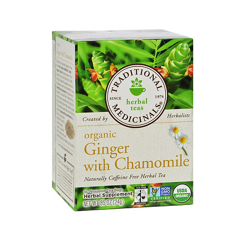 Traditional Medicinal Organic Tea Ginger with Chamomile .850z 16 bags