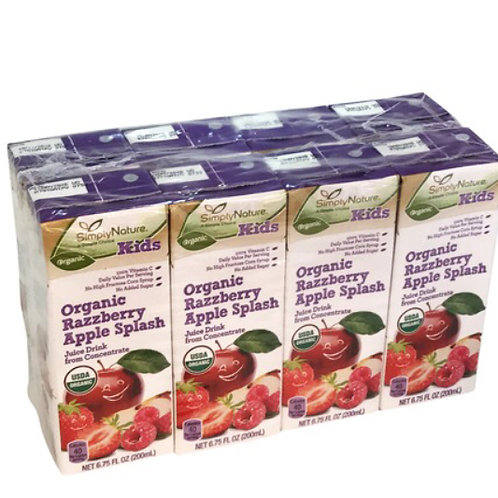 Simply Nature Kids Organic Razzberry Apple splash Juice 200ml 1 pack