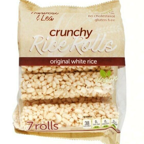 Harvest & Lea Crunchy Rice Rolls Original (7 Rolls)