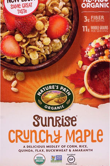 Nature's Path Organic Sunrise Cereal Crunchy Maple -- 10.6 oz