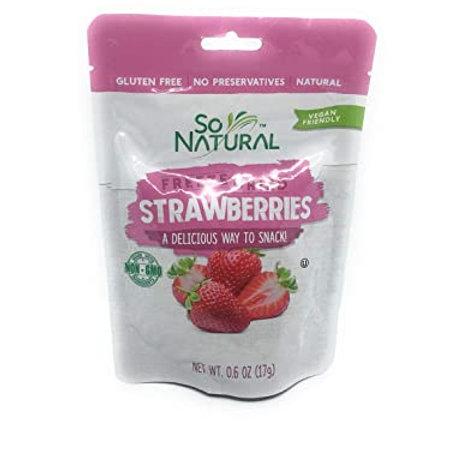 SO NATURAL Freeze Dried STRAWBERRY 0.6 oz non gmo