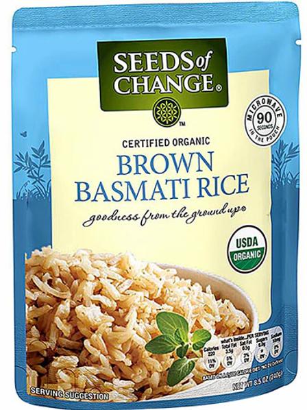 Seeds of Change Organic Brown Basmati Rice Microwave Pouch -- 8.5 oz