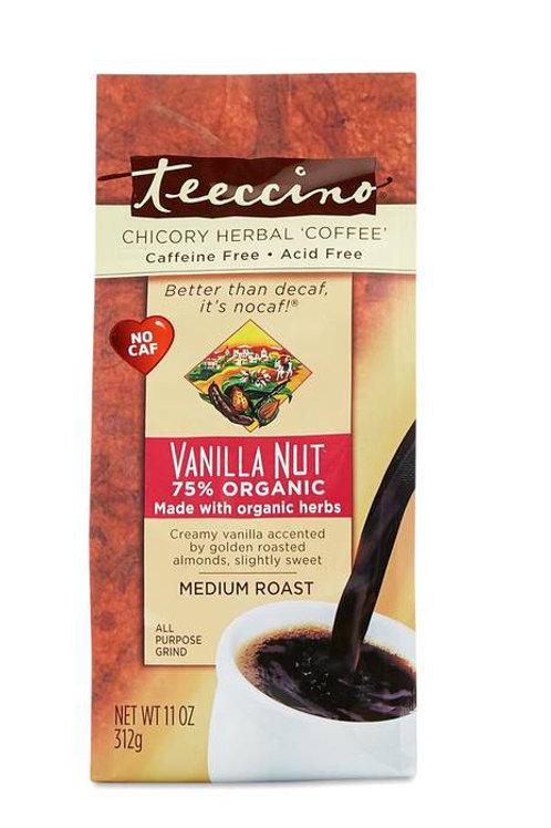 Teeccino Vanilla Nut Herbal Coffe alternative 11oz