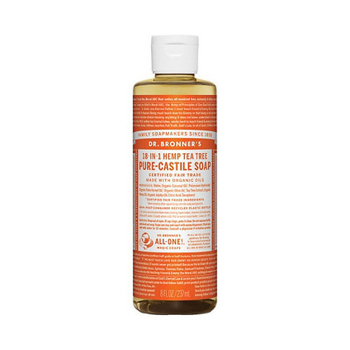 Dr Bronner's Tea Tree liquid soap 16oz