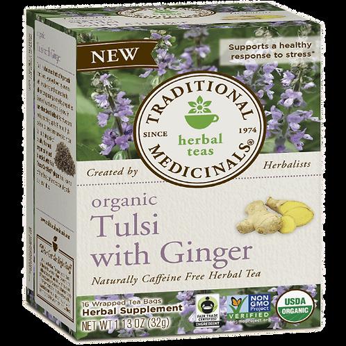 Traditional Medicinals Organic Tulsi Tulsi w/ Ginger -- 16 Tea Bags