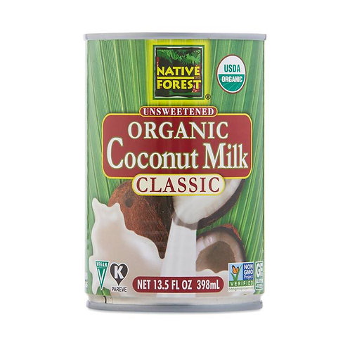 Native Forest Unsweetened Organic Coconut Milk 13.5oz