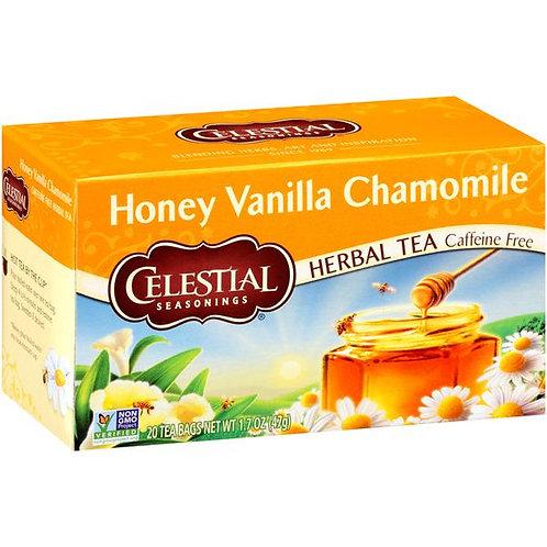 Celestial Seasonings Herbal Tea Caffeine Free honey vanilla chamomile 20 bags