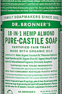 Dr. Bronner's Pure Castile Liquid Soap Almond -- 8 fl oz