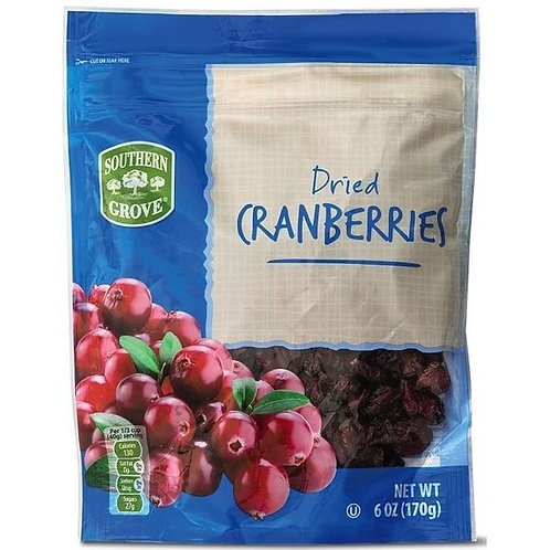 Southern Grove Dried Cranberries 6 oz