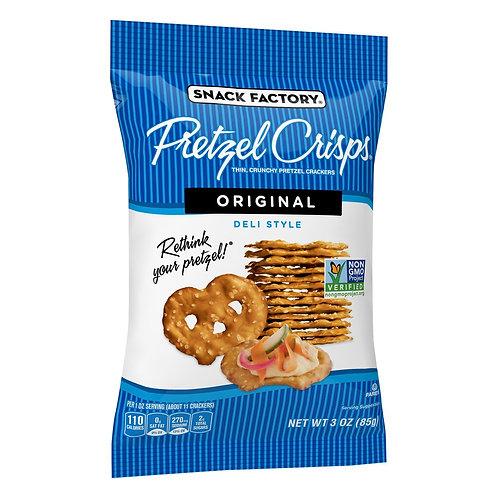 Snack Factory non-gmo Pretzel Crisps Original 3oz