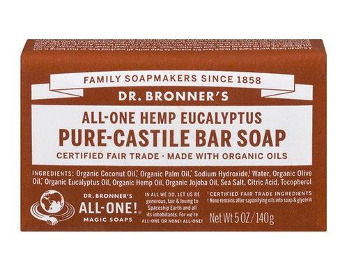 Dr Bronner's All-one Hemp Eucalyptus Pure-Castile Bar Soap 5oz