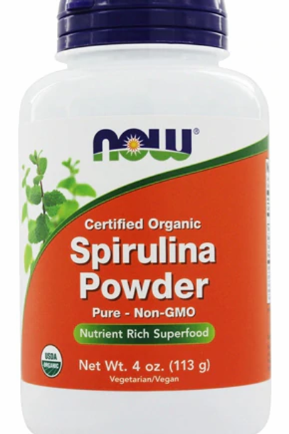 NOW Organic Spirulina Powder -- 4 oz